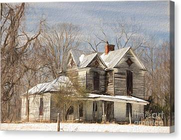 Good Place For A Ghost Canvas Print by Benanne Stiens