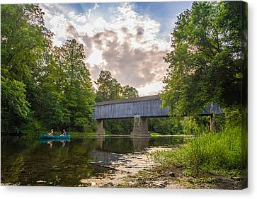 Good To Canoe Canvas Print by Kristopher Schoenleber