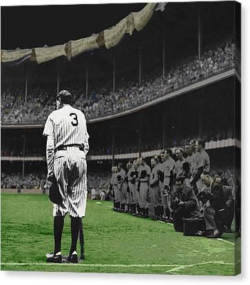 Goodbye Babe Ruth Farewell Canvas Print by Tony Rubino