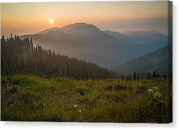 Goodnight Mountains Canvas Print by Kristopher Schoenleber