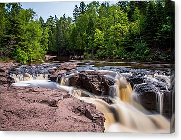 Goose Berry River Rapids Canvas Print by Paul Freidlund
