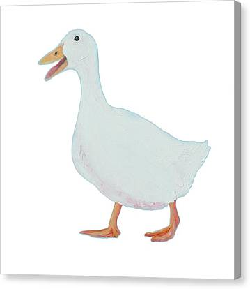 Goose Named Audrey Canvas Print by Jan Matson