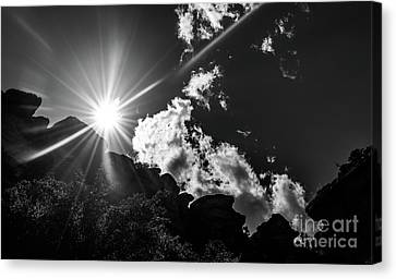 Gorgeous Day At The Grand Canyon Canvas Print by Charlene Gauld