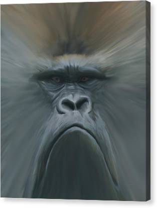 Gorilla Freehand Abstract Canvas Print by Ernie Echols