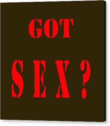 Got Sex Canvas Print by Studio Artist
