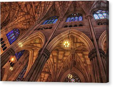 Gothic Ceiling Canvas Print by Jessica Jenney