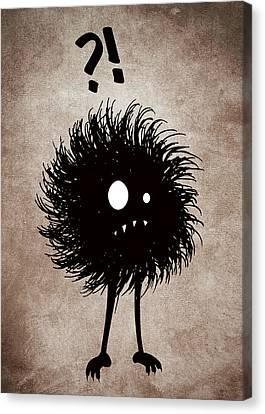 Gothic Wondering Evil Bug Character Canvas Print by Boriana Giormova