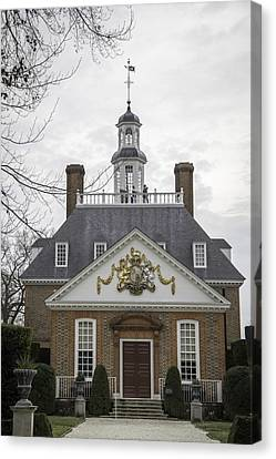 Governors Palace Back Door 01 Canvas Print by Teresa Mucha
