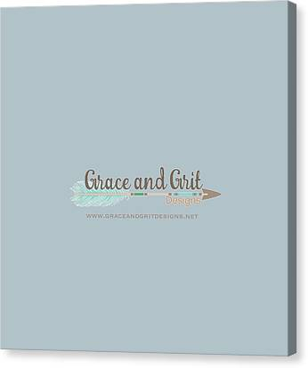Grace And Grit Logo Canvas Print by Elizabeth Taylor