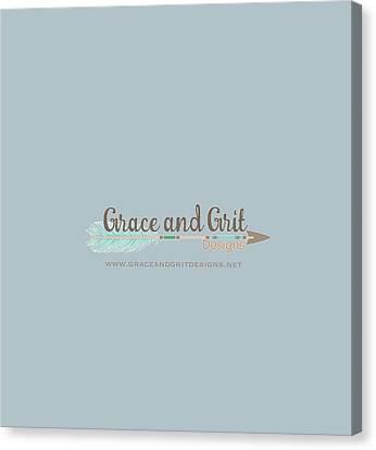 Grace And Grit Logo Canvas Print by Elizabeth Taylor