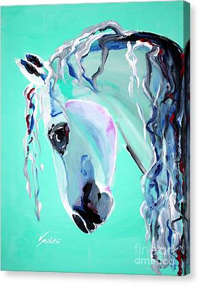 Grace - Horse Art By Valentina Miletic Canvas Print by Valentina Miletic