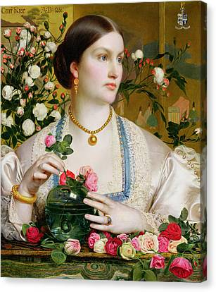 Grace Rose Canvas Print by Anthony Frederick Augustus Sandys