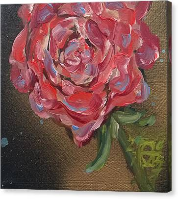 Gracie's Rose Canvas Print by Andrea LaHue