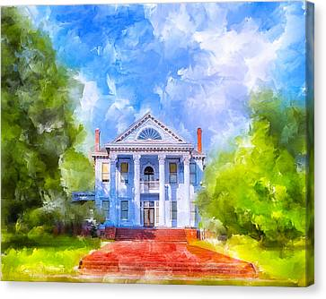 Gracious Living - Classic Southern Home Canvas Print by Mark E Tisdale