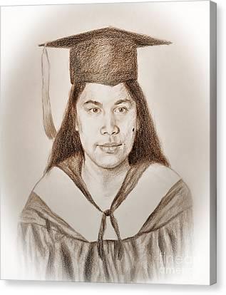 Graduation Portrait Of A Filipina Beauty  Canvas Print by Jim Fitzpatrick