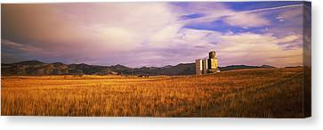 Grain Elevator Fairfield Id Canvas Print by Panoramic Images
