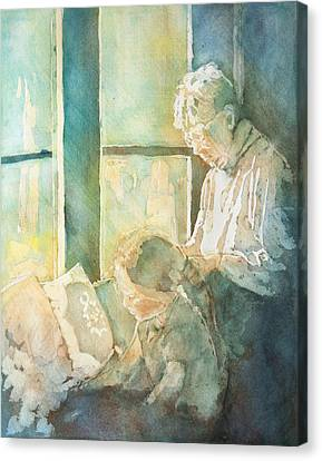 Gramdma Braids Canvas Print by Jenny Armitage