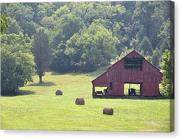 Grampa's Summer Barn Canvas Print by Jan Amiss Photography