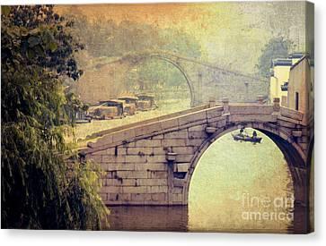 Grand Canal Bridge Suzhou Canvas Print by Heiko Koehrer-Wagner