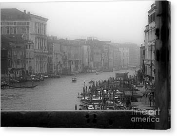 Grand Canal On A Foggy Morning Canvas Print by Prints of Italy