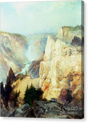 Grand Canyon Of The Yellowstone Park Canvas Print by Thomas Moran