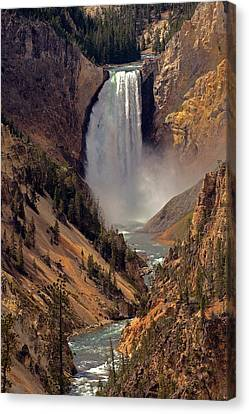 Grand Canyon Of The Yellowstone Canvas Print by Robert Pilkington