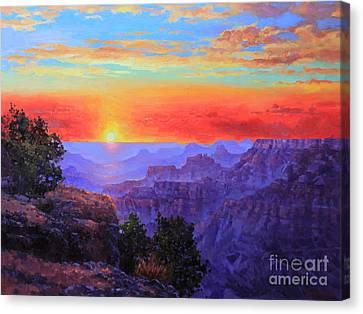 Grand Canyon Sunset Canvas Print by Gary Kim