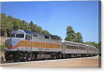 Grand Canyon Train Canvas Print by Donna Kennedy