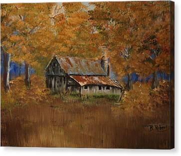 Grand Dad's Farm #1 Canvas Print by Bobbie Roberts