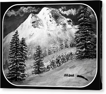 Grand Mountain  Canvas Print by Debra Lynch