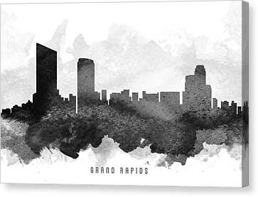 Grand Rapids Cityscape 11 Canvas Print by Aged Pixel