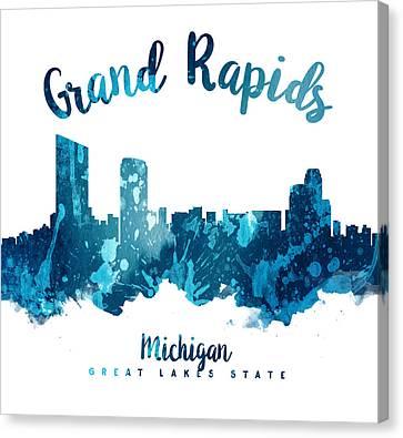 Grand Rapids Michigan Skyline 27 Canvas Print by Aged Pixel