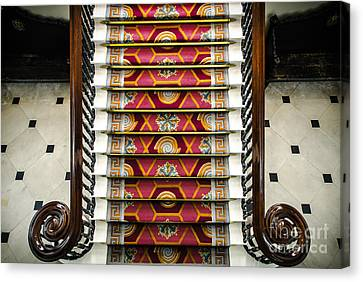 Grand Staircase In Dublin Castle Canvas Print by RicardMN Photography