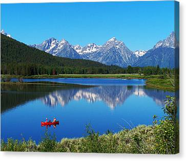 Grand Tetons Canvas Print by Vijay Sharon Govender