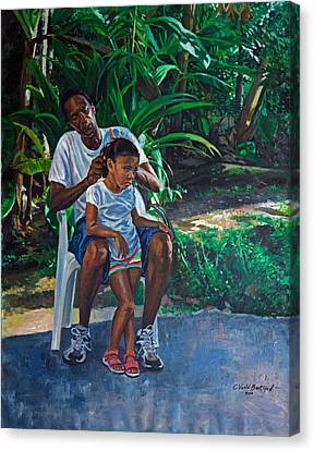 Grandfather And Child Canvas Print by Colin Bootman
