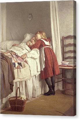 Grandfathers Little Nurse Canvas Print by James Hayllar