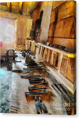 Grandfather's Tools Canvas Print by Claire Bull
