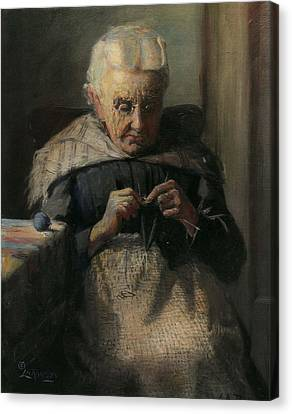 Grandma Canvas Print by Lewis A Ramsey