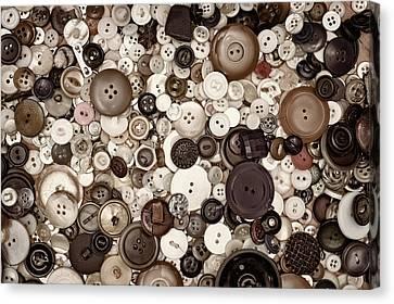Grandmas Buttons Canvas Print by Scott Norris