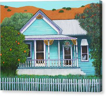 Grandmas House  Canvas Print by Lorraine Klotz