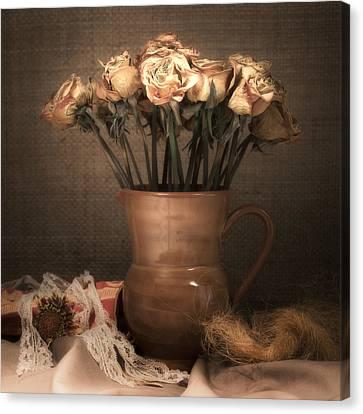 Grandma's Roses Canvas Print by Wim Lanclus