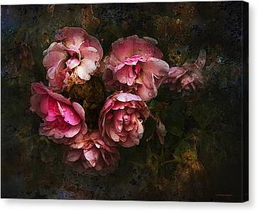 Grandmother's Roses Canvas Print by Ron Jones