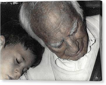 Grampas Shoulder Canvas Print by Wayne King