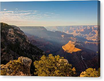 Colorado River Canvas Print featuring the photograph Grandview Sunset - Grand Canyon National Park - Arizona by Brian Harig