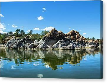 Granite Dells At Watson Lake Canvas Print by Amy Sorvillo
