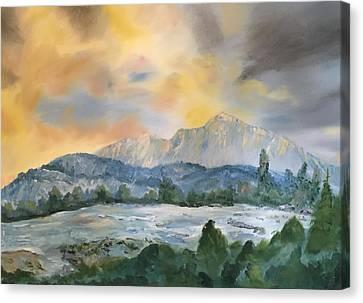 Granite Grandeur-sierra Morning Canvas Print by Roy Gould