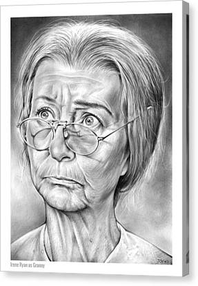 Granny Canvas Print by Greg Joens