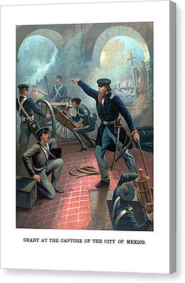Grant At The Capture Of The City Of Mexico Canvas Print by War Is Hell Store