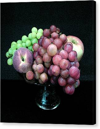 Grapes And Fruit Canvas Print by Sandi OReilly