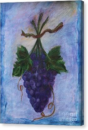 Grapes Canvas Print by Elena Fattakova